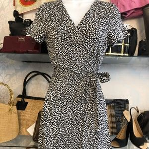 DIANE VON FURSTENBERG Black & White Print Dress